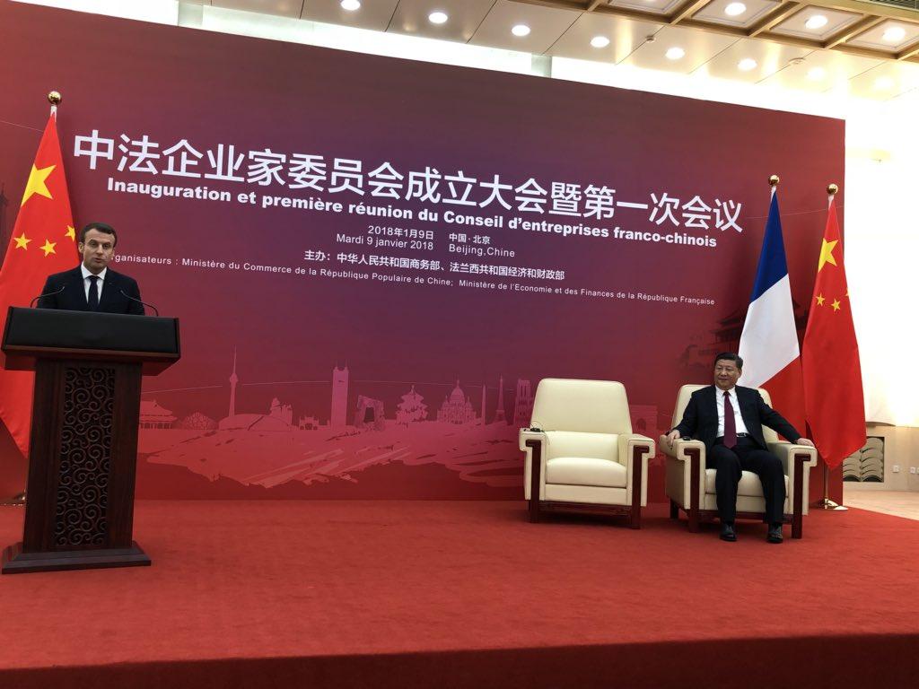 Inauguration et première réunion du Conseil des Entreprises franco-chinois - 9 janvier 2018 - Pékin