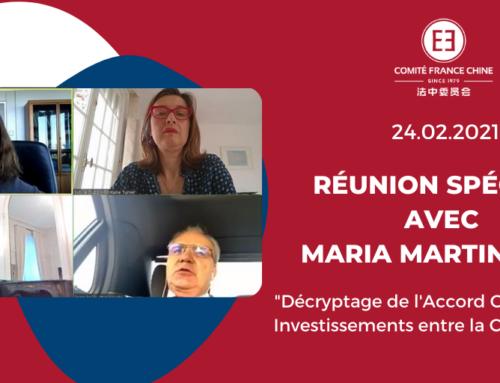 Point sur l'Accord global sur les investissements UE-Chine (CAI) avec Maria MARTIN-PRAT, Directrice à la Direction générale du Commerce à la Commission Européenne – 24/02/2021